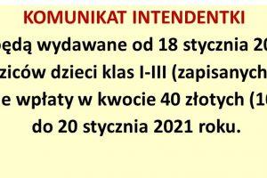 Komunikat intendentki – strona
