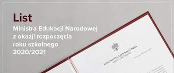 LIST MINISTRA EDUKACJI I NAUKI Z OKAZJI ROZPOCZĘCIA ROKU SZKOLNEGO 2021/2022